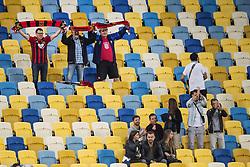 September 14, 2017 - Lviv, UKRAINA - 170914 Östersunds supportrar jublar efter fotbollsmatchen i Europa League mellan Zorya och Östersund den 14 september 2017 i Lviv  (Credit Image: © Johanna Lundberg/Bildbyran via ZUMA Wire)
