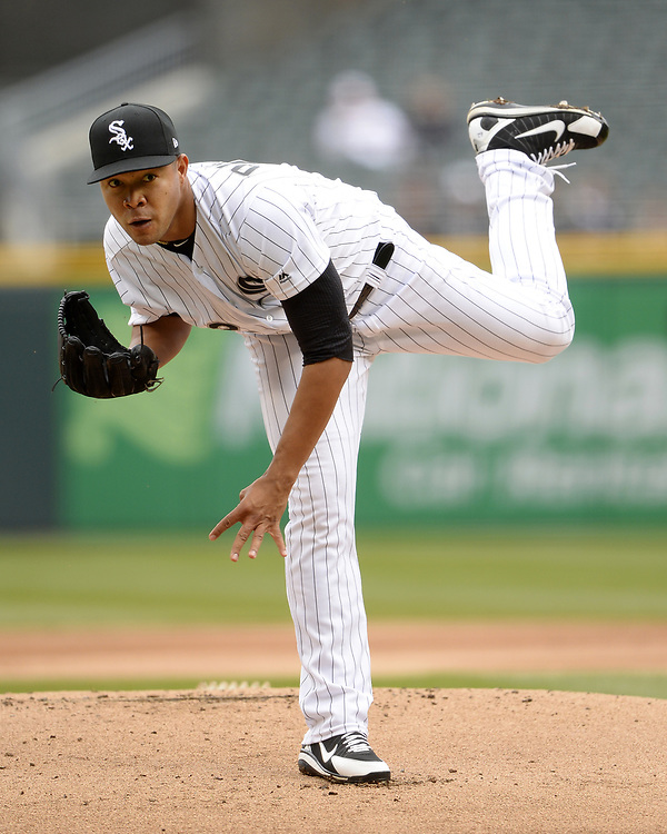 CHICAGO - APRIL 04:  Jose Quintana #62 of the Chicago White Sox pitches against the Detroit Tigers on April 04, 2017 at Guaranteed Rate Field in Chicago, Illinois.  The Tigers defeated the White Sox 6-3.  (Photo by Ron Vesely)   Subject:  Jose Quintana