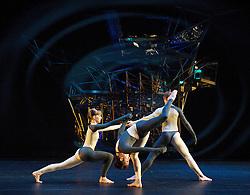 Nearly Ninety<br /> The Merce Cunningham Dance Company <br /> choreography by Merce Cunningham<br /> at The Barbican Theatre, London, Great Britain <br /> rehesrsal <br /> 26th October 2010 <br /> <br /> <br /> John Hinrichs<br /> <br /> Jamie Scott<br /> <br /> Silas Riener<br /> <br /> Photograph by Elliott Franks<br /> 2010©Elliott Franks