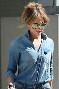 Sept. 18, 2014 - New York, New York, U.S. - <br /> <br /> Jennifer Lopez Out with Son In New York<br /> <br /> Singer JENNIFER LOPEZ wearing denim shirt and jeans out with son Max Muniz in New York. <br /> ©Exclusivepix