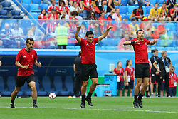 July 14, 2018 - St. Petersburg, Russia - July 14, 2018, St. Petersburg, FIFA World Cup 2018, Football match for the third place in the World Cup. Football match of Belgium - England at the stadium of St. Petersburg. Player of the national team Alireza Fagani; arbitrator; judge. (Credit Image: © Russian Look via ZUMA Wire)