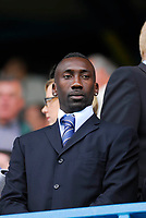 Photo: Leigh Quinnell.<br /> Queens Park Rangers v Cardiff City. Coca Cola Championship. 18/08/2007. New Cardiff signing Jimmy Floyd Haslebaink looks on.
