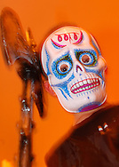 Model released - Boy Dressed in a Halloween Mask