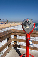 Coastline View from Balboa Pier, Newport Beach, California