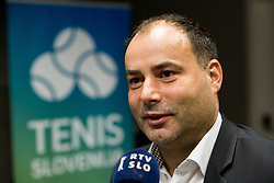 Andrej Slapar, new president during General Assembly of Slovenian Tennis Federation, on December 12, 2018 in Kristalna palaca, Ljubljana, Slovenia. Photo by Vid Ponikvar / Sportida