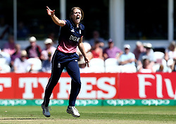 Natalie Sciver of England Women celebrates taking the wicket of Chamari Athapaththu of of Sri Lanka Women - Mandatory by-line: Robbie Stephenson/JMP - 02/07/2017 - CRICKET - County Ground - Taunton, United Kingdom - England Women v Sri Lanka Women - ICC Women's World Cup Group Stage