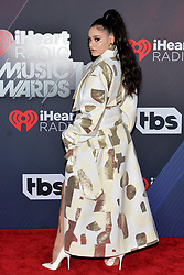 Kehlani attends the 2018 iHeartRadio Music Awards at the Forum on March 11, 2018 in Inglewood, California. Photo by Lionel Hahn/AbacaPress.com