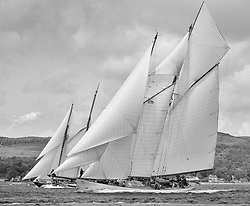 Mixed and bright conditions for the fleet as they race from Kames to Largs.<br /> <br /> * The Fife Yachts are one of the world's most prestigious group of Classic <br /> yachts and this will be the third private regatta following the success of the 98, <br /> and 03 events.  <br /> A pilgrimage to their birthplace of these historic yachts, the 'Stradivarius' of <br /> sail, from Scotland's pre-eminent yacht designer and builder, William Fife III, <br /> on the Clyde 20th –27th June.   <br />  <br /> <br /> More information is available on the website: www.fiferegatta.com <br />  <br /> Press office contact: 01475 689100         Lynda Melvin or Paul Jeffes