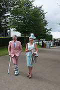 JEFF BANKS; SHAY WHITE, Ladies Day, Glorious Goodwood. Goodwood. August 2, 2012