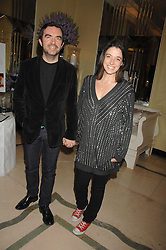 MARY McCARTNEY and SIMON ABOUD at the 10th Anniversary Party of the Lavender Trust, Breast Cancer charity held at Claridge's, Brook Street, London on 1st May 2008.<br /><br />NON EXCLUSIVE - WORLD RIGHTS