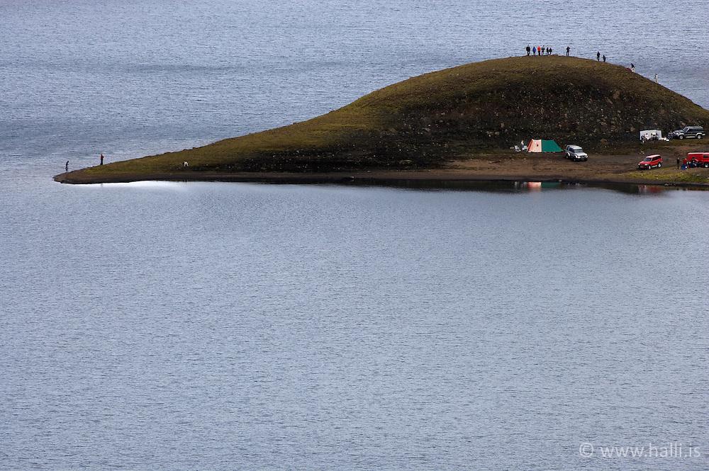 The lake Langisjor in the highlands of Iceland - Langisjór á hálendi Íslands