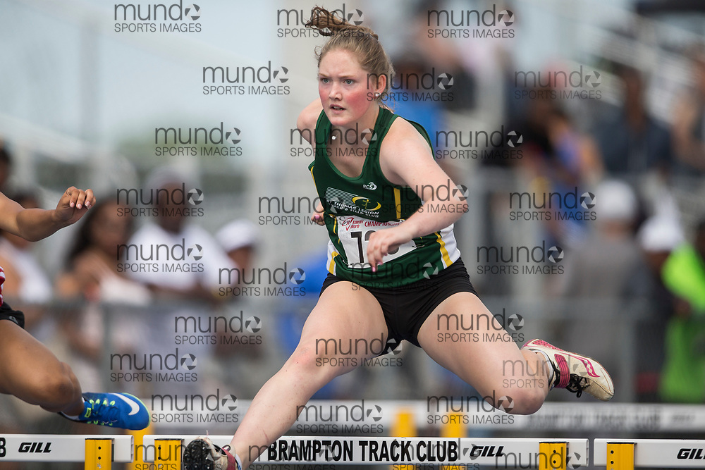 Brampton, Ontario ---2017-07-29--- Kenzie  Smyth of ST Thomas Legion Track & Field competes at the AO BMY Championships in Brampton, Ontario, July 29, 2017.<br /> GEOFF ROBINS/ Mundo Sport Images