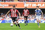 Brentford Defender Yoann Barbet (29) in action during the EFL Sky Bet Championship match between Brentford and Queens Park Rangers at Griffin Park, London, England on 21 April 2018. Picture by Stephen Wright.