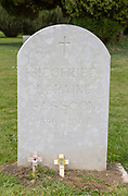 Headstone grave of war poet and author Siegfried Sassoon 1886-1967, Mells, Somerset, England, UK
