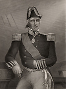 Edmund Lyons, 1st Baron Lyons, (1790-1858) English naval officer born at Burton near Christchurch, Hampshire. Entered the Royal Navy in1803. Commander of British Black Sea fleet from 1855 during Crimean (Russo-Turkish) War 1853-1856. Commander-in-Chief of the British Mediterranean fleet 1855-1858. Rear-Admiral 1850.  Engraving.