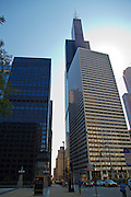 Street view of Willis tower (formerly Sears tower). Chicago, Illinois, USA