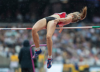 Athletics - 2017 IAAF London World Athletics Championships - Day Two (AM Session)<br /> <br /> Event: High Jump Women - Heptathlon<br /> <br /> Geraldine Rucksthul (SUI)  clears the bar <br /> <br /> COLORSPORT/DANIEL BEARHAM