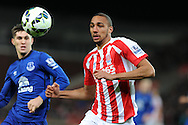 Steven Nzonzi of Stoke city in action. Barclays Premier League match, Stoke city v Everton at the Britannia Stadium in Stoke on Trent , Staffs on Wed 4th March 2015.<br /> pic by Andrew Orchard, Andrew Orchard sports photography.