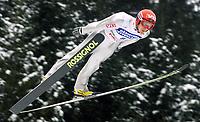 Hopp, Bad Mittendorf-Kulm/2003-02-02/ Skiflygning Word Cup. <br />DANIEL FORFANG (NOR)<br />Foto Calle Törnström, Digitalsport