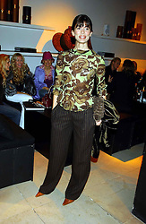 Model LISA B at a party to celebrate the first 20 years of fashion label Donna Karan held at her store at 19/20 New Bond Street, London W1 on 21st September 2004.<br /><br />NON EXCLUSIVE - WORLD RIGHTS
