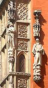 Fragment południowej elewacji gotyckiego ratusza we Wrocławiu, Polska<br /> Fragment of town hall in Wrocław, Poland