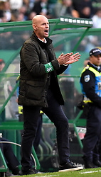 LISBON, Feb. 4, 2019  Head coach Marcel Keizer of Sporting gestures during the Portuguese League soccer match between SL Benfica and Sporting CP in Lisbon, Portugal, Feb. 3, 2019. Benfica won 4-2. (Credit Image: © Xinhua via ZUMA Wire)