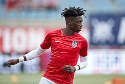 May 28, 2018 - Chester, PA, U.S. - CHESTER, PA - MAY 28: United States midfielder Tim Weah (11) warms up prior to the international friendly match between the United States and Bolivia at the Talen Energy Stadium on May 28, 2018 in Chester, Pennsylvania. (Photo by Robin Alam/Icon Sportswire) (Credit Image: © Robin Alam/Icon SMI via ZUMA Press)