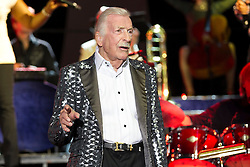 08.04.2015, Rothaus Arena, Freiburg, GER, James Last, Non Stop Music Tour, im Bild James Last mit Band // during a Concert of James Last with his Band on the Non Stop Music Tour at the Rothaus Arena in Freiburg, Germany on 2015/04/08. EXPA Pictures © 2015, PhotoCredit: EXPA/ Eibner-Pressefoto/ Fleig<br /> <br /> *****ATTENTION - OUT of GER*****