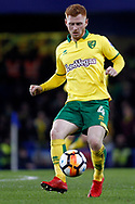 Harrison Reed of Norwich City in action. The Emirates FA Cup, 3rd round replay match, Chelsea v Norwich City at Stamford Bridge in London on Wednesday 17th January 2018.<br /> pic by Steffan Bowen, Andrew Orchard sports photography.