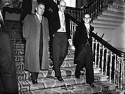 Colm Gallagher (left)  and President of Wholesale Grocers Association,  D Tyndall Jnr. (right) at Presidential Inauguration of Sean T O'Ceallaigh, Dublin Castle..25/06/1952