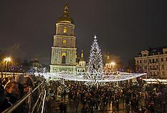 Ukraine - The Christmas Tree Of Ukraine Is Lit In Kiev- 19 Dec 2016