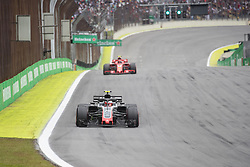 November 10, 2018 - Sao Paulo, Sao Paulo, Brazil - KEVIN MAGNUSSEN, of Haas F1 Team, during the free practice session for the Formula One Grand Prix of Brazil at Interlagos circuit, in Sao Paulo, Brazil. The grand prix will be celebrated next Sunday, November 11. (Credit Image: © Paulo LopesZUMA Wire)