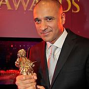 NLD/Amsterdam/20110328 - Uitreking Rembrandt Awards 2011, DJ Paul Elstak met zijn Rembrandt award