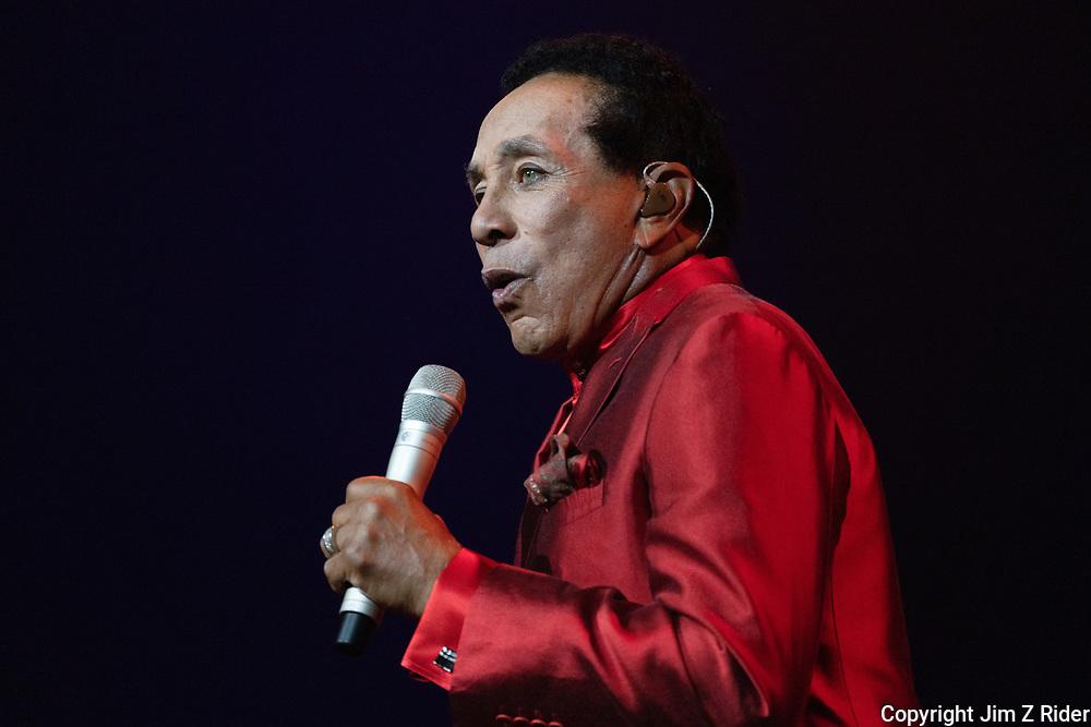 Motown legend SMOKEY ROBINSON  performs at Ocean Casino Resort in Atlantic City, New Jersey.