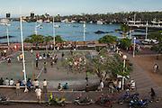 Everyday life in town.<br /> Puerto Ayora, Santa Cruz Island, GALAPAGOS ISLANDS<br /> ECUADOR.  South America