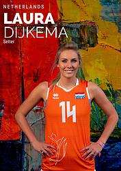 Laura Dijkema of Netherlands, Photoshoot selection of Orange women's volleybal team season 2021on may 12, 2021 in Arnhem, Netherlands (Photo by RHF Agency/Ronald Hoogendoorn)