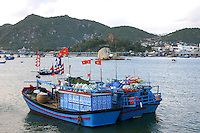 Vietnamese Fishing Boats at Nha Trang Port