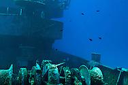 Anchor chain wenches, USS Kittiwake