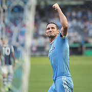 NEW YORK, NEW YORK - July 30:  Frank Lampard #8 of New York City FC celebrates after completing his hat trick from the penalty spot during his sides 5-1 win during the NYCFC Vs Colorado Rapids regular season MLS game at Yankee Stadium on July 30, 2016 in New York City. (Photo by Tim Clayton/Corbis via Getty Images)