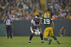 E.J. Biggers #38 of the Philadelphia Eagles against the Green Bay Packers at Lambeau Field on August 29, 2015 in Green Bay, Pennsylvania. The Eagles won 39-26. (Photo by Drew Hallowell/Philadelphia Eagles)