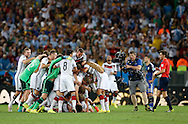 Germany celebrate winning the 2014 FIFA World Cup Final at Maracana Stadium, Rio de Janeiro<br /> Picture by Andrew Tobin/Focus Images Ltd +44 7710 761829<br /> 13/07/2014