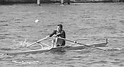 Kingston on Thames, United Kingdom.   Men's Single Scull M1X. The final Round of the Leyland Daf Sprint series, at Kingston RC on the River Thames, Surrey, England, <br /> <br /> Saturday 04.05.1987<br /> <br /> [Mandatory Credit; Peter Spurrier/Intersport-images] 1987 Leyland Daf Sprints, Kingston. UK