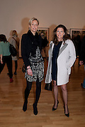 KATINKA BARYSCH; HELEN MACINTYRE; , Places Strange and quiet. Exhibition of photos by Wim Wenders. Haunch of Venison. 14 April 2011.  -DO NOT ARCHIVE-© Copyright Photograph by Dafydd Jones. 248 Clapham Rd. London SW9 0PZ. Tel 0207 820 0771. www.dafjones.com.