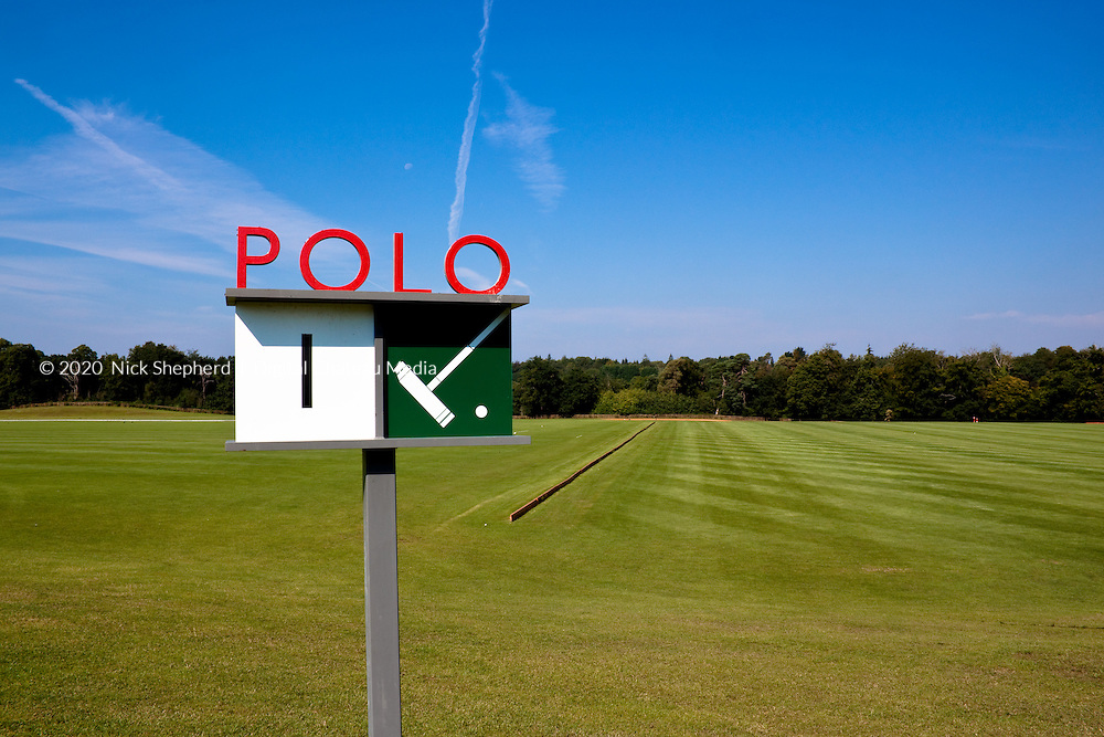 The polo lawn at Coworth Park, Berkshire.