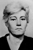Elizabeth Douglas, senior, 41 years, who was jailed for 10 years, for her part in the murder on 24 July 1974 of 31 year old Anne Ogilby, originally from Sion Mills, Co Tyrone, N Ireland. She was charged along with nine other women and one man who received lesser sentences. Douglas, who was head of the women's UDA in Sandy Row, died in jail in 1979. 197502100130ED.<br /> <br /> Copyright Image from Victor Patterson, 54 Dorchester Park, Belfast, UK, BT9 6RJ<br /> <br /> t1: +44 28 9066 1296 (from Rep of Ireland 048 9066 1296)<br /> t2: +44 28 9002 2446 (from Rep of Ireland 048 9002 2446)<br /> m: +44 7802 353836<br /> <br /> victorpattersonbelfast@gmail.com<br /> <br /> www.victorpatterson.com<br /> <br /> Please see my Terms and Conditions of Use at https://www.victorpatterson.com/page2<br /> It is IMPORTANT that you familiarise yourself with them.<br /> <br /> Images used on the Internet incur an additional cost and must be visibly watermarked i.e. © Victor Patterson within the body of the image and copyright metadata must not be deleted. Images used on the Internet have a size restriction of 4kbs and are chargeable at rates available at victorpatterson.com.<br /> <br /> This image is available only for the use of the download recipient i.e. television station, newspaper, magazine, book publisher, etc, and must not be passed on to any third party. It is also downloaded on condition that each and every usage is notified within 7 days to victorpattersonbelfast@gmail.com.<br /> <br /> The right of Victor Patterson (or the named photographer) to be identified as the author is asserted in accordance with The Copyright Designs And Patents Act (1988). All rights reserved and all moral rights are asserted.