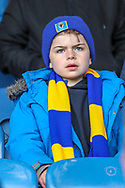 Young AFC Wimbledon fan during the EFL Sky Bet League 1 match between Southend United and AFC Wimbledon at Roots Hall, Southend, England on 16 March 2019.