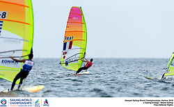 Aarhus, Denmark is hosting the 2018 Hempel Sailing World Championships from 30 July to 12 August 2018. More than 1,400 sailors from 85 nations are racing across ten Olympic sailing disciplines as well as Men's and Women's Kiteboarding. <br /> 40% of Tokyo 2020 Olympic Sailing Competition places will be awarded in Aarhus as well as 12 World Championship medals. ©PEDRO MARTINEZ/SAILING ENERGY/AARHUS 2018<br /> 12 August, 2018.
