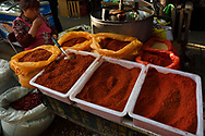Chili sales stands, Old Town Muslim quarters, Xian City, Shaanxi, China