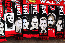 Manchester United scarves for sale prior to the match