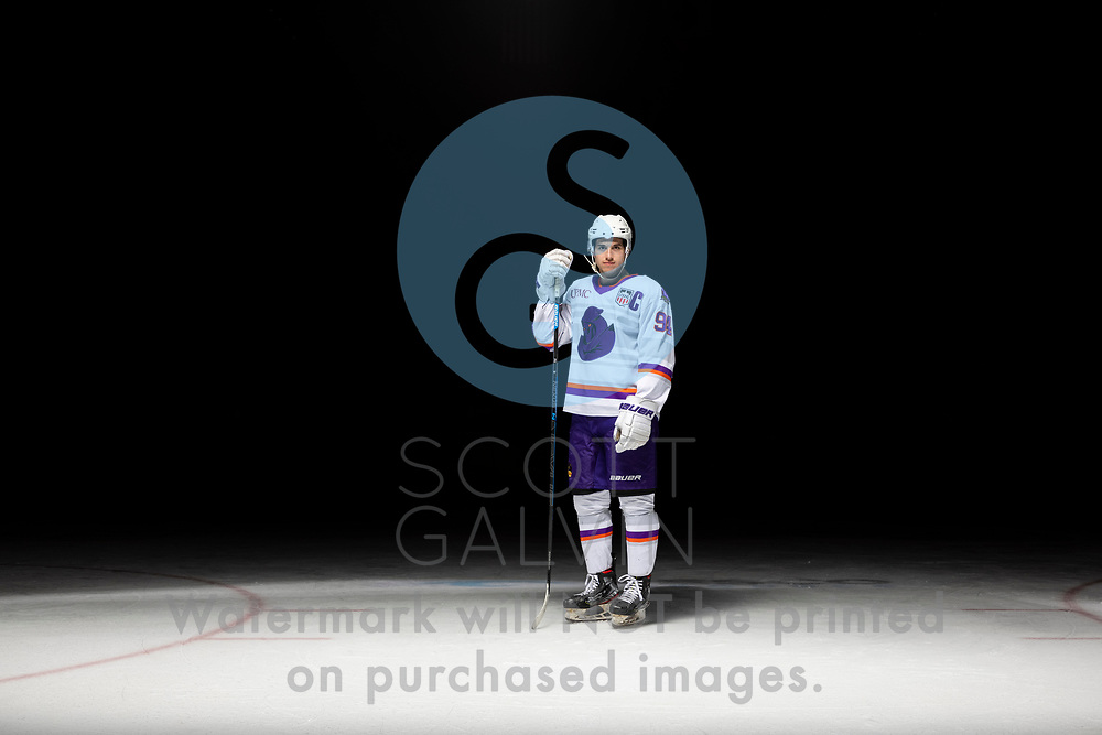 Youngstown Phantoms player photo shoot on April 14, 2021. <br /> <br /> Reilly Funk, forward, 94
